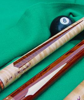 Exquisite Wood & Ivory Custom Cues